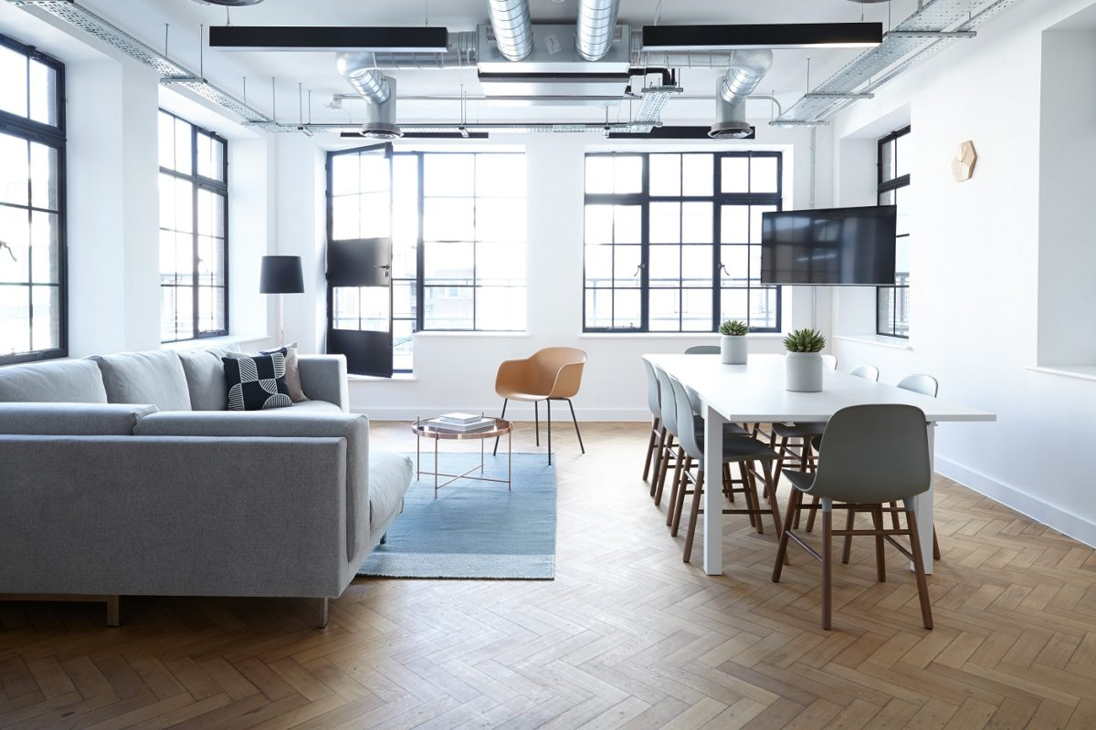 A tidy space offers room to think